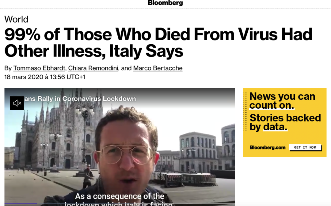 99% of Those Who Died From Virus Had Other Illness, Italy Says